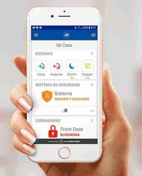 adt smart security app sistemas de alarma casa negocio