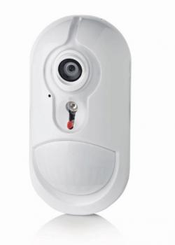 detector PIR con camara alarmas tyco