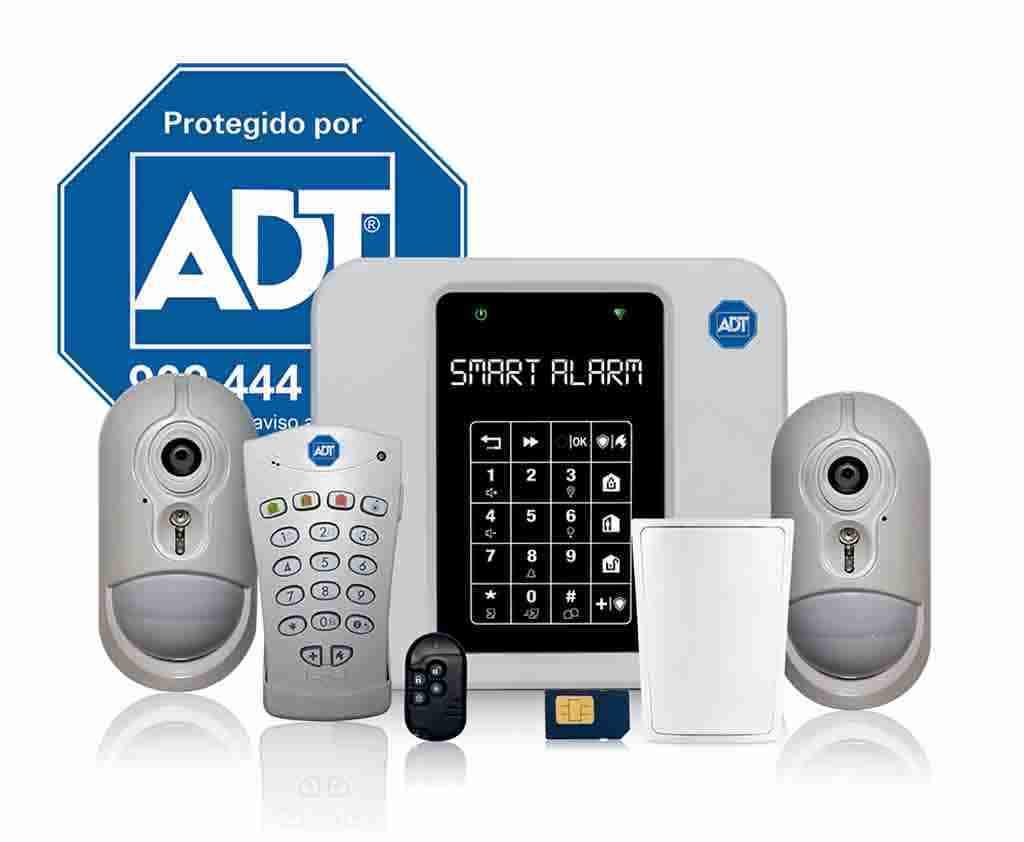 kit alarmas adt con placa disuasoria para casa o negocio anti okupas
