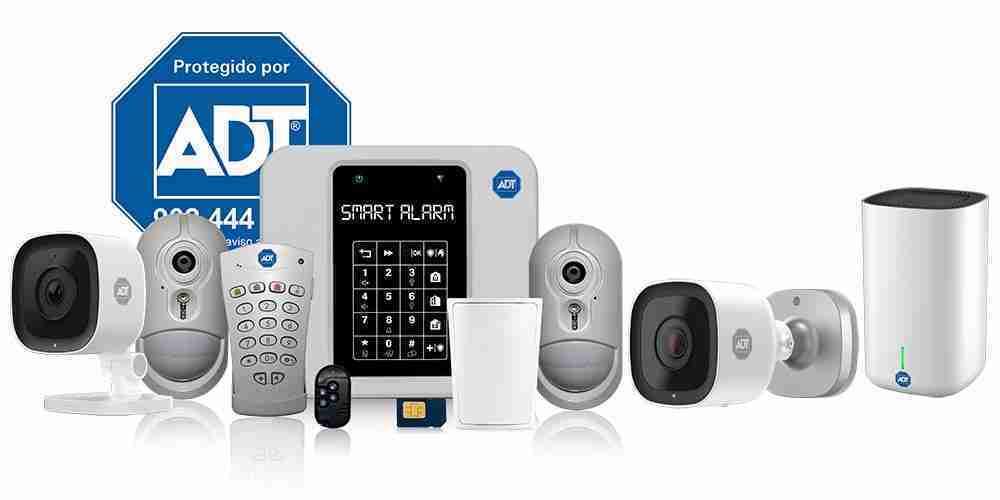 kit alarma adt smart security vision con camara ip de interior bullet y grabador para casa hogar negocio