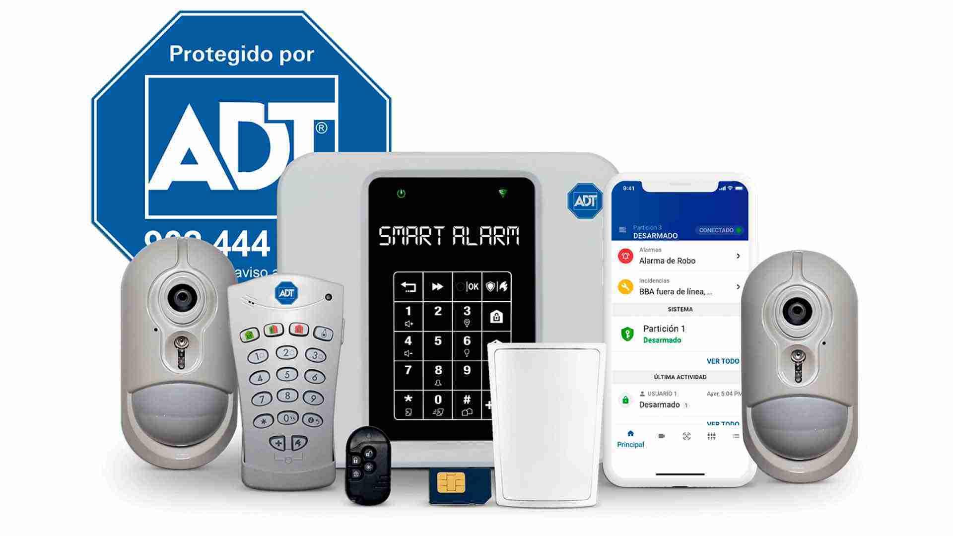 kit de alarma adt para casa hogar alarma negocio