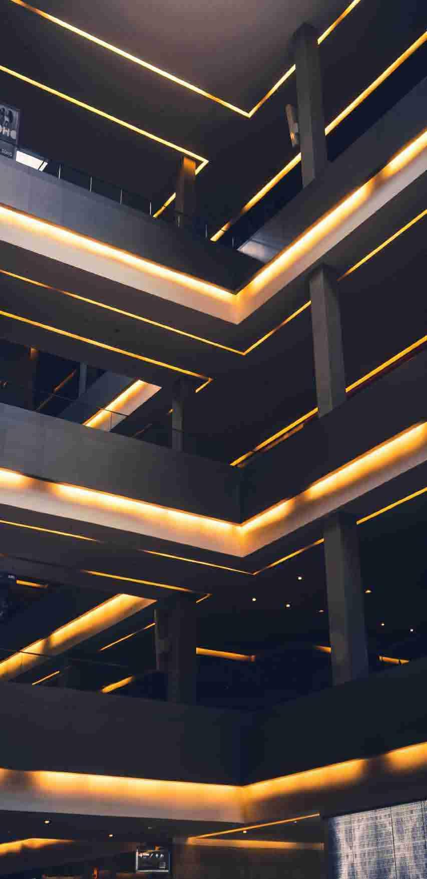 pisos iluminados